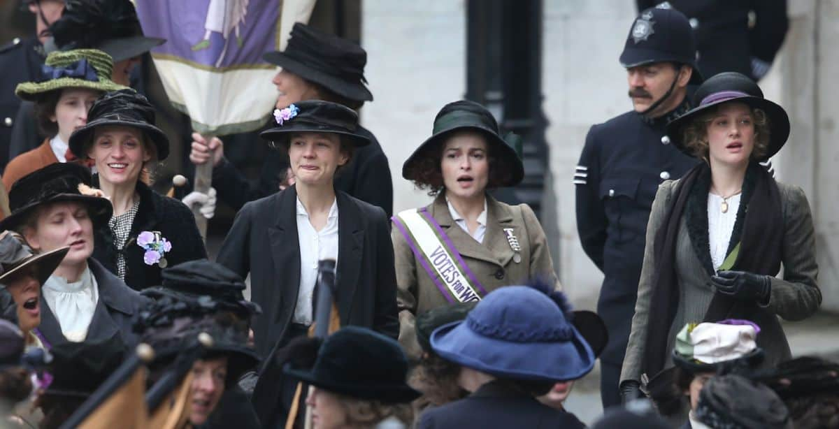 A scene from the movie Suffragette, starring Carey Mulligan.